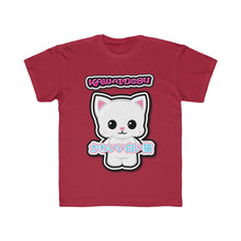 Load image into Gallery viewer, Kids Kawaii White Cat Tee