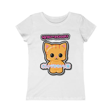 Girls Kawaii Orange Cat Tee