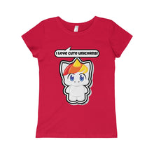 Load image into Gallery viewer, Unicorn Girls Princess Tee