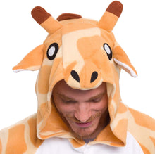 Load image into Gallery viewer, Silver Lilly Unisex Adult Pajamas - Plush One Piece Cosplay Giraffe Animal Costume