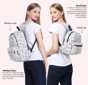 Lightweight Canvas Mini Backpack for Women, Teens and Kids (Cat Grey Small V2)
