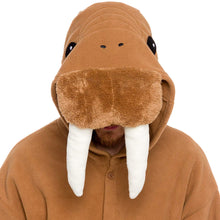 Load image into Gallery viewer, Silver Lilly Unisex Adult Pajamas - Plush One Piece Cosplay Walrus Animal Costume