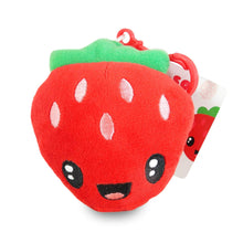 Load image into Gallery viewer, Scentco Fruit Troop Backpack Buddies - Scented Plush Toy Clips - Strawberry