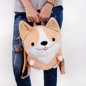 Smoko Cute Milo Plush Corgi Backpack