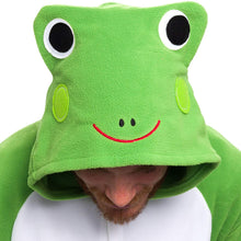 Load image into Gallery viewer, Silver Lilly Unisex Adult Pajamas - Plush One Piece Cosplay Frog Animal Costume