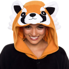 Load image into Gallery viewer, Silver Lilly Unisex Adult Pajamas - Plush One Piece Cosplay Red Panda Animal Costume