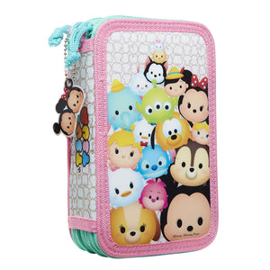 Tsum Tsum Disney Deluxe Pencil Case, Multicolor