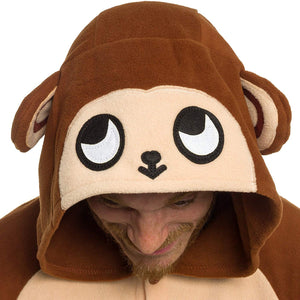 Silver Lilly Unisex Adult Pajamas - Plush One Piece Cosplay Monkey Animal Costume