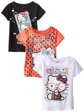 Load image into Gallery viewer, Hello Kitty Girls' 3 Pack T-Shirt