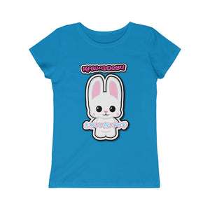Girls Kawaii White Bunny Tee