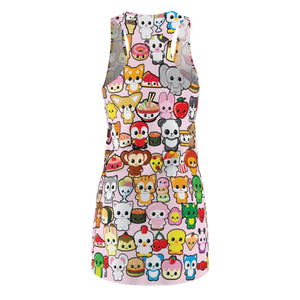 Kawaidesu Women's Cut & Sew Racerback Dress