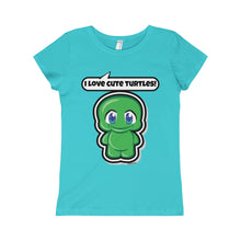 Load image into Gallery viewer, Turtle Girls Princess Tee