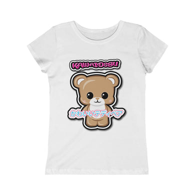 Girls Kawaii Teddy Bear Tee