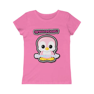 Girls Kawaii Pink Penguin Tee