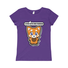 Load image into Gallery viewer, Red Panda Girls Princess Tee
