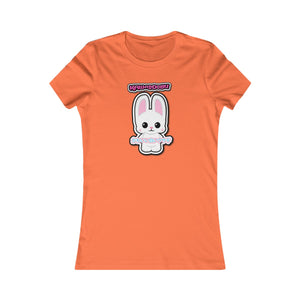 Women's Kawaii White Bunny Tee