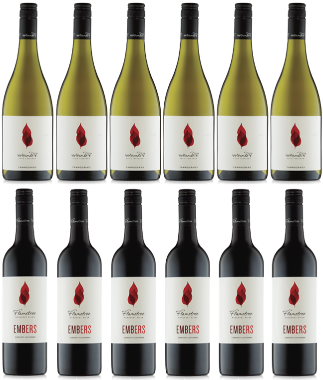 Flametree Chardonnay and Cabernet (Case of 12)