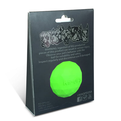best lime green dog ball strong durable k9ops k9-ops k9 ops indestructible
