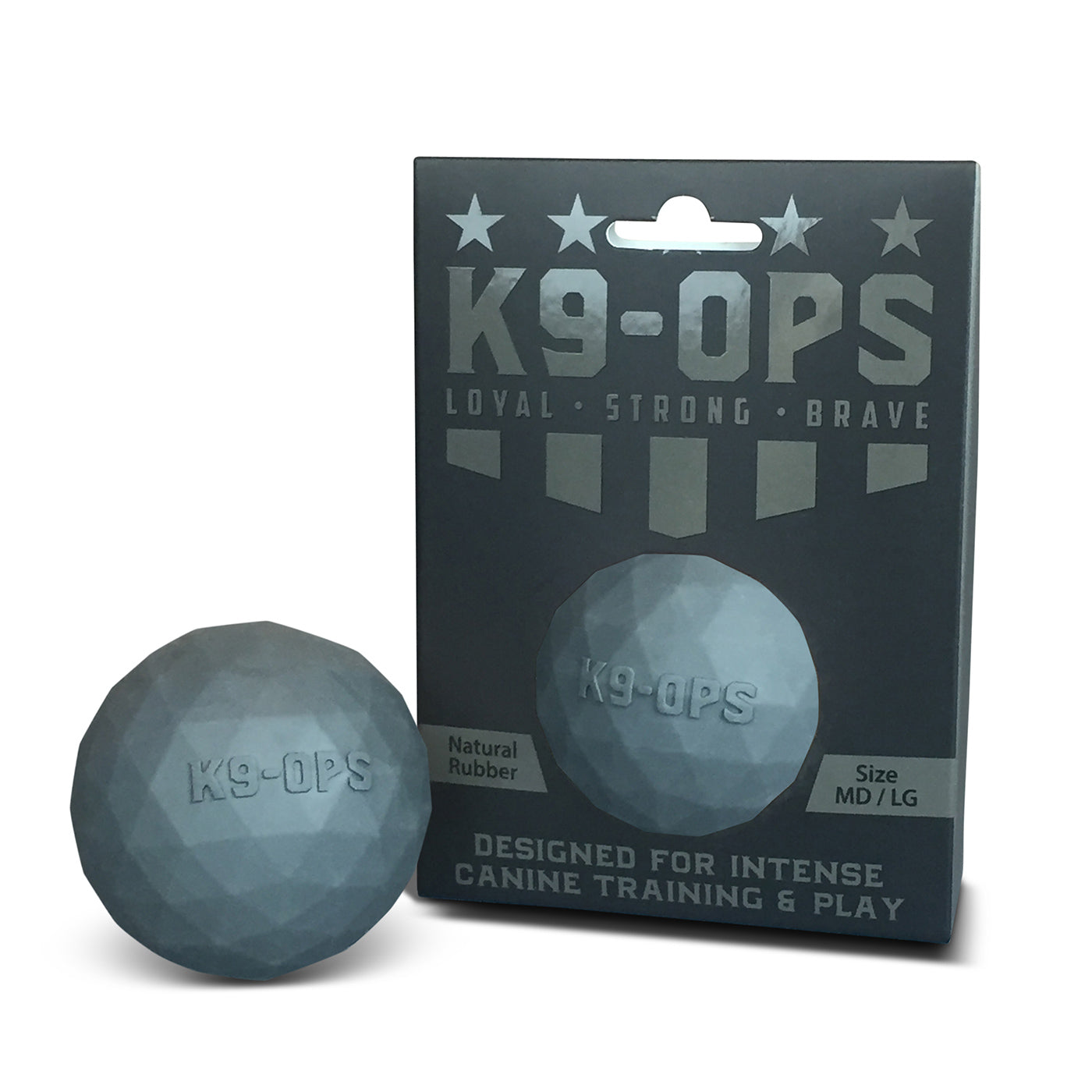 Police training dog balls designed to be the most durable dog ball for K9 and K-9