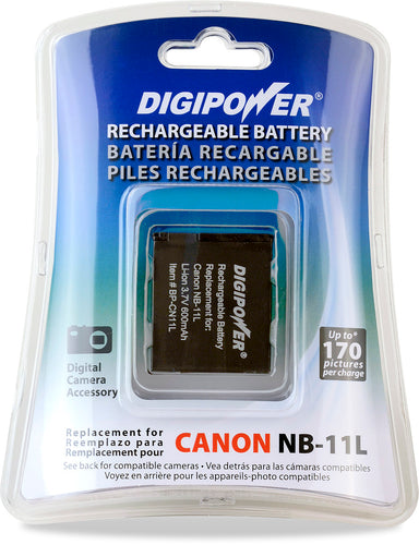 Digipower BP-CN11L digital camera battery, Replacement for Canon NB-11L battery pack