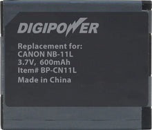 Load image into Gallery viewer, Digipower BP-CN11L digital camera battery, Replacement for Canon NB-11L battery pack
