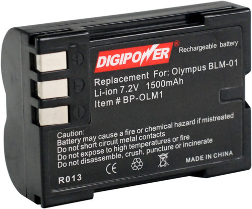 Digipower BP-OLM1 digital camera battery, Replacement for Olympus BLM-1 battery pack