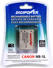 Load image into Gallery viewer, Digipower - BP-CN5L digital camera battery, Replacement for Canon NB5L battery pack