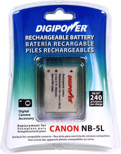 Digipower - BP-CN5L digital camera battery, Replacement for Canon NB5L battery pack