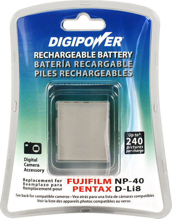 Digipower BP-NP40 digital camera battery, Replacement for Fuji NP-40 battery pack