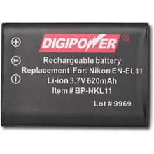 Load image into Gallery viewer, Digipower BP-NKL11 digital camera battery, Replacement for Nikon EN-EL11 battery pack