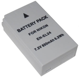 Digipower - BP-NKL24- digital camera battery, Replacement for Nikon EN-EL24 battery pack