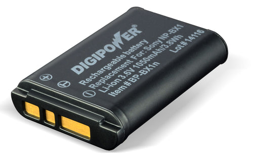 Digipower BP-BX1 digital camera battery, Replacement for Sony NP-BX1 battery pack