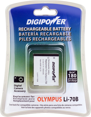 Digipower - BP-OL70 digital camera battery, Replacement for Olympus Li-70B battery pack