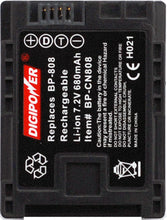 Load image into Gallery viewer, Digipower BP-CN808 Camcorder battery, Replacement for Canon BP-808 battery pack