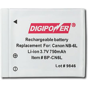 Digipower BP-CN6L digital camera battery, Replacement for Canon NB-6L battery pack