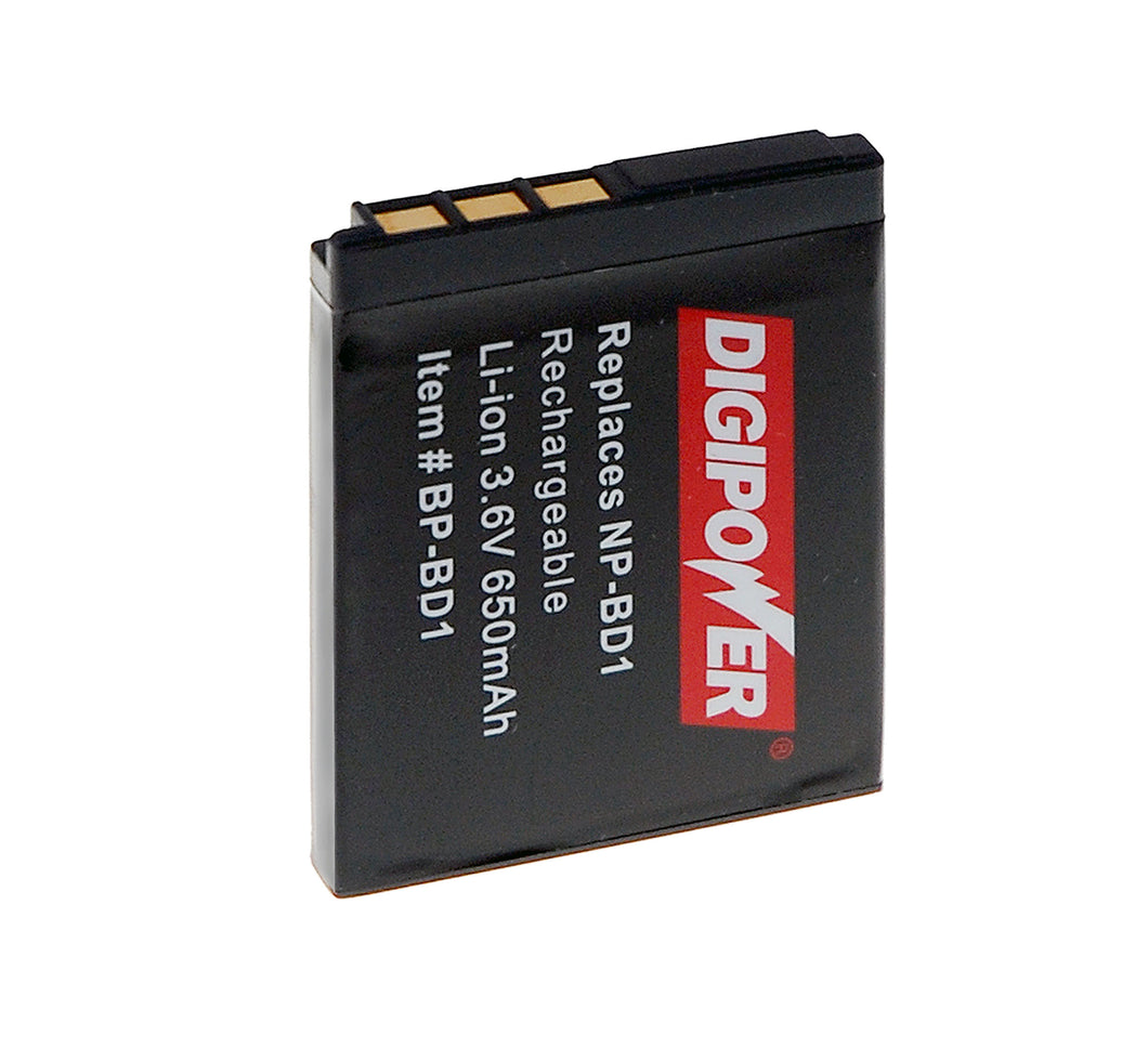 Digipower BP-BD1 digital camera battery, Replacement for Sony NP-BD1/ FD1 battery pack
