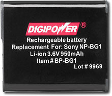 Load image into Gallery viewer, Digipower BP-BG1 digital camera battery, Replacement for Sony NP-BG1 battery pack