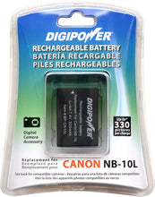 Load image into Gallery viewer, Digipower BP-CN10L digital camera battery, Replacement for Canon NB-10L battery pack