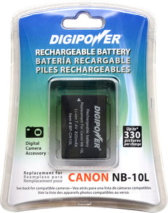 Digipower BP-CN10L digital camera battery, Replacement for Canon NB-10L battery pack