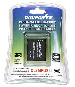 Digipower BP-OL90 digital camera battery, Replacement for Olympus Li-90B battery pack