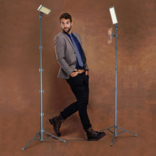 Load image into Gallery viewer, PRO2 - Two Point Lighting Set - Two 180 LED Lights + Two Pro Stands Kit For Home, Studio, Content Creation & Vlogging