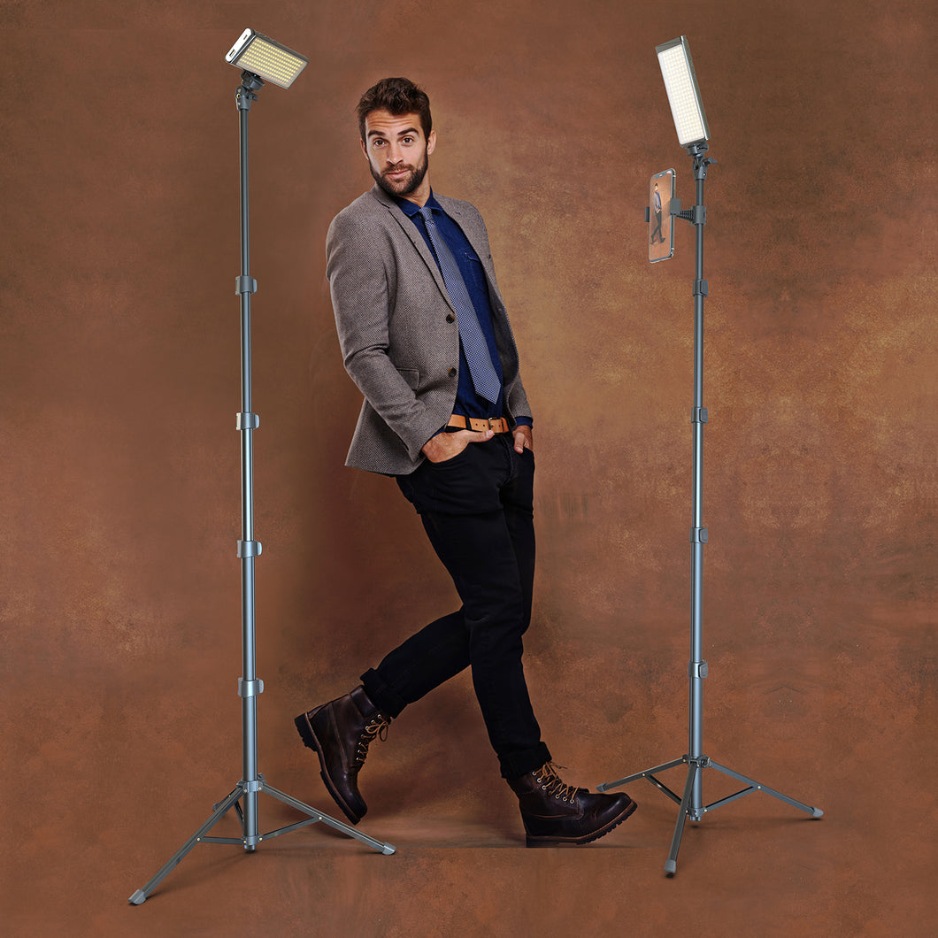 PRO2 - Two Point Lighting Set - Two 180 LED Lights + Two Pro Stands Kit For Home, Studio, Content Creation & Vlogging