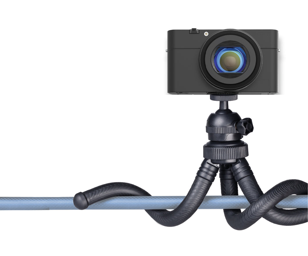 Universal Flexible Tripod with 360 Degree Ball Head & Rubberized Bendable Legs