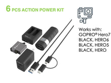 Load image into Gallery viewer, Action Power Kit for GoPro HERO8 Black, HERO7 Black, HERO6 Black, HERO5 Black & HERO