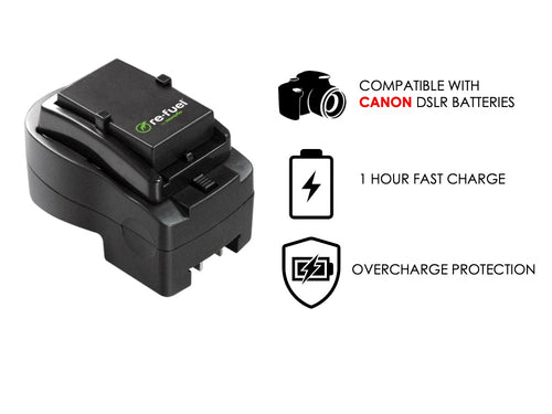 DSLR Travel Charger For Canon Replacement Batteries