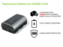 Load image into Gallery viewer, Digipower BP-LPE6 digital camera battery, Replacement for Canon LP-E6 battery pack