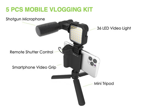 #FOLLOW ME - Vlogging Kit with Wireless Hand Held Grip