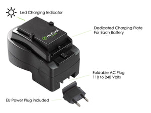 One hour travel charger for Sony D-SLR camera batteries