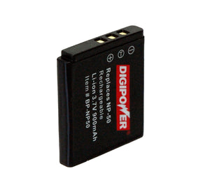 Digipower BP-NP50 digital camera battery, Replacement for Fuji NP-50 battery pack