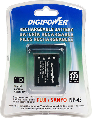 Digipower BP-NP45 digital camera battery, Replacement for Fuji NP-45 battery pack